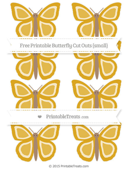 Free Goldenrod Small Butterfly Cut Outs