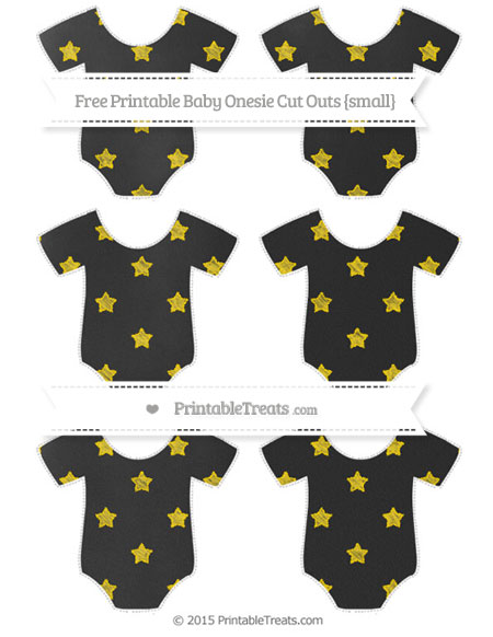 Free Goldenrod Star Pattern Chalk Style Small Baby Onesie Cut Outs