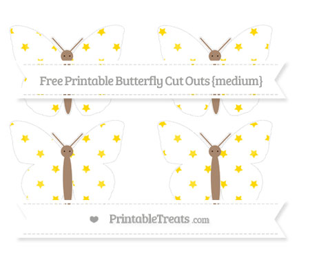 Free Goldenrod Star Pattern Medium Butterfly Cut Outs