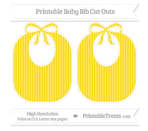 Free Goldenrod Thin Striped Pattern Large Baby Bib Cut Outs