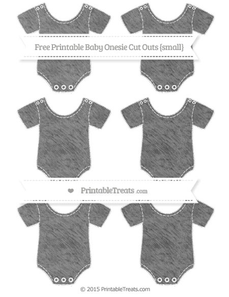 Free Grey Chalk Style Small Baby Onesie Cut Outs