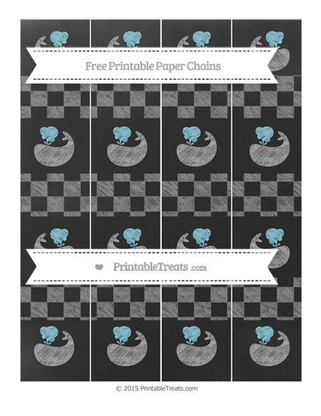 Free Grey Checker Pattern Chalk Style Whale Paper Chains