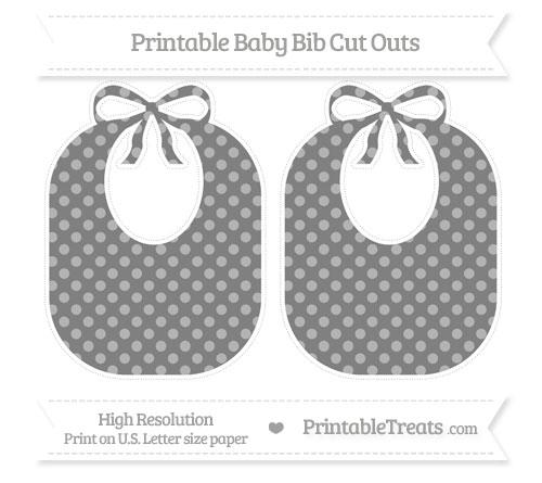Free Grey Dotted Pattern Large Baby Bib Cut Outs