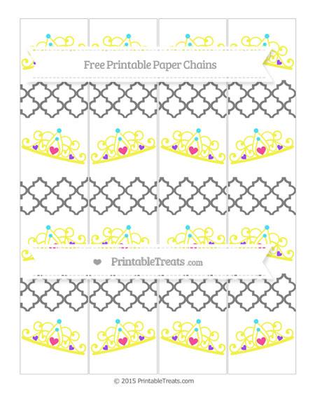 Free Grey Moroccan Tile Princess Tiara Paper Chains