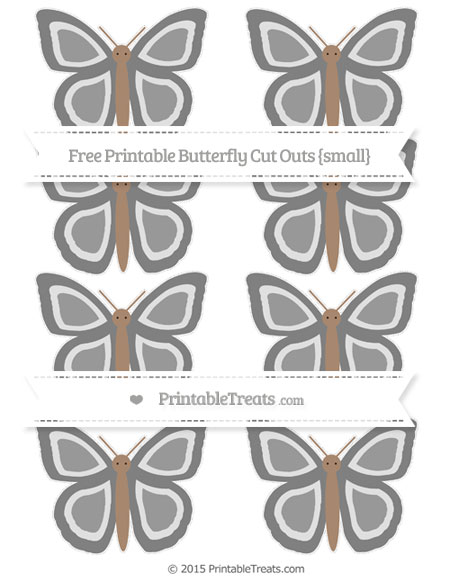 Free Grey Small Butterfly Cut Outs
