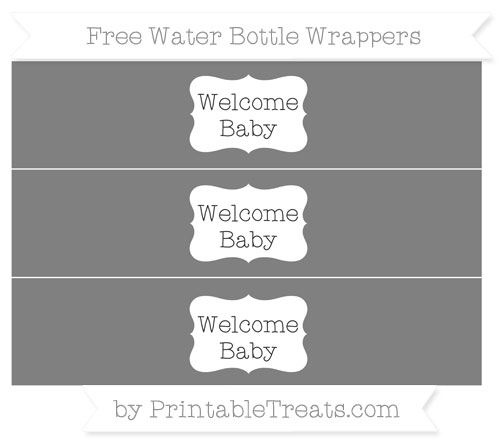 Free Grey Welcome Baby Water Bottle Wrappers