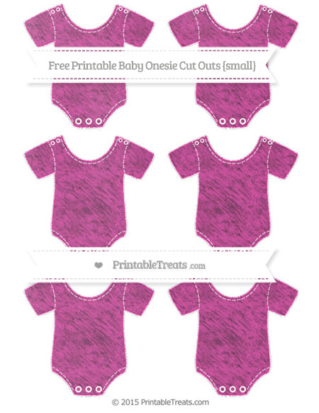 Free Hot Pink Chalk Style Small Baby Onesie Cut Outs