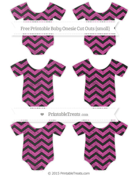 Free Hot Pink Chevron Chalk Style Small Baby Onesie Cut Outs