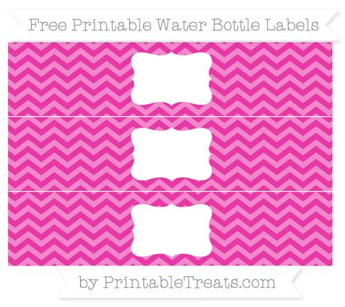 Free Hot Pink Chevron Water Bottle Labels