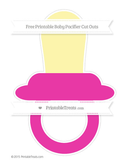 Free Hot Pink Extra Large Baby Pacifier Cut Outs