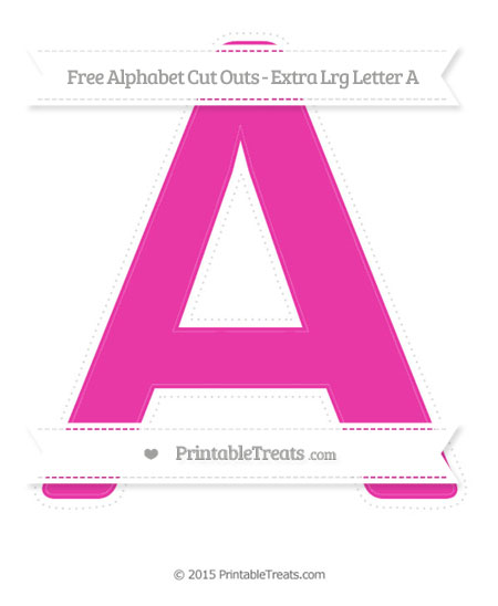 Free Hot Pink Extra Large Capital Letter A Cut Outs