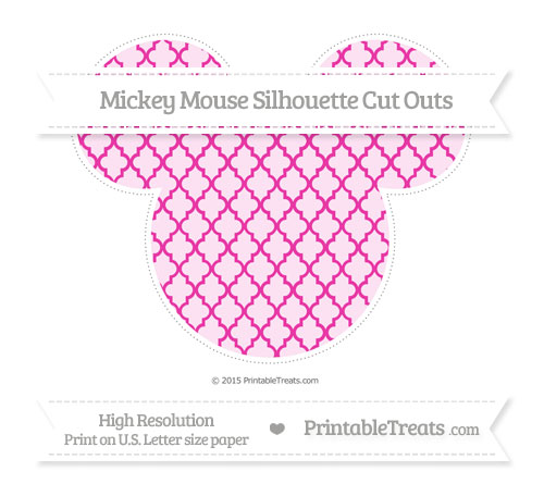 Free Hot Pink Moroccan Tile Extra Large Mickey Mouse Silhouette Cut Outs
