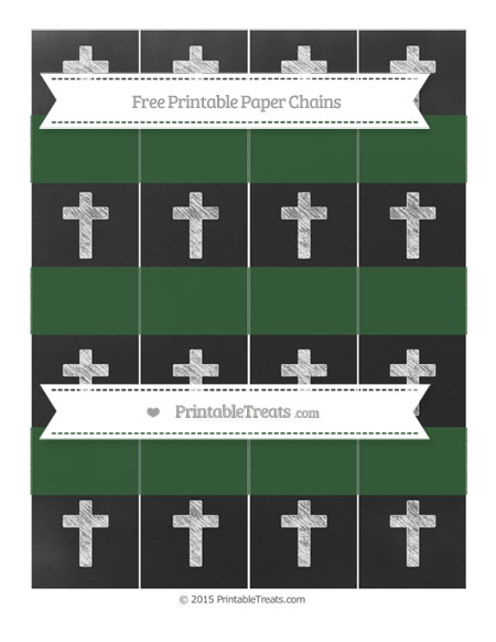 Free Hunter Green Chalk Style Cross Paper Chains