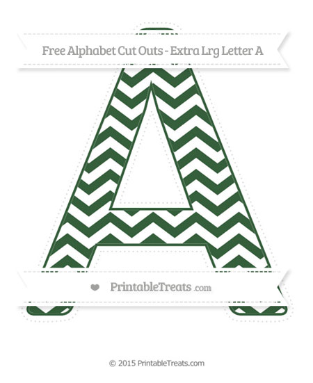 Free Hunter Green Chevron Extra Large Capital Letter A Cut Outs