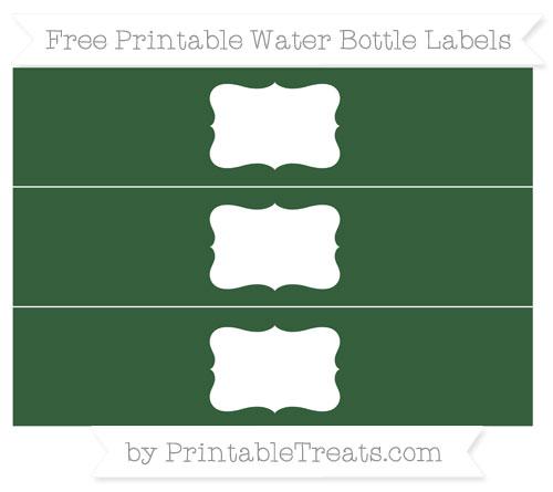 Free Hunter Green Water Bottle Labels