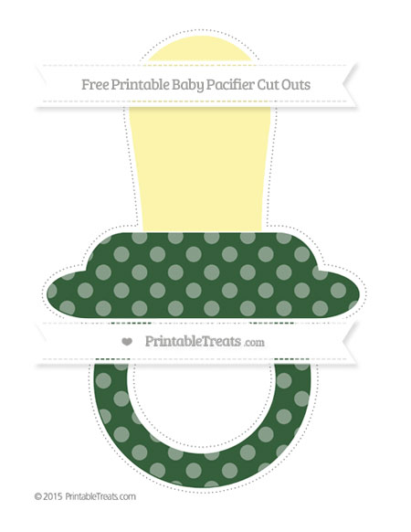 Free Hunter Green Dotted Pattern Extra Large Baby Pacifier Cut Outs