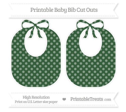 Free Hunter Green Dotted Pattern Large Baby Bib Cut Outs