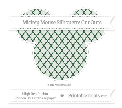 Free Hunter Green Moroccan Tile Extra Large Mickey Mouse Silhouette Cut Outs