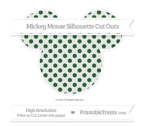 Free Hunter Green Polka Dot Extra Large Mickey Mouse Silhouette Cut Outs