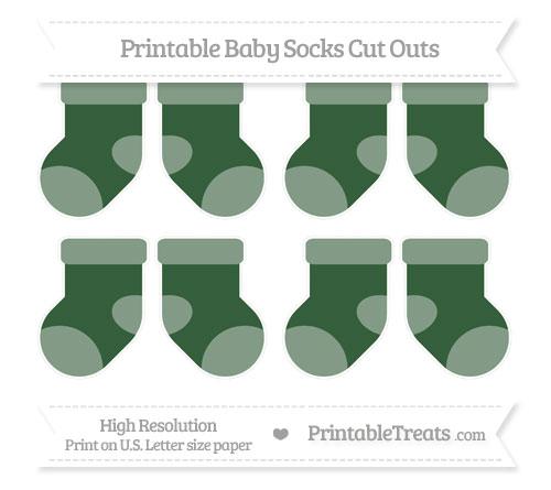 Free Hunter Green Small Baby Socks Cut Outs