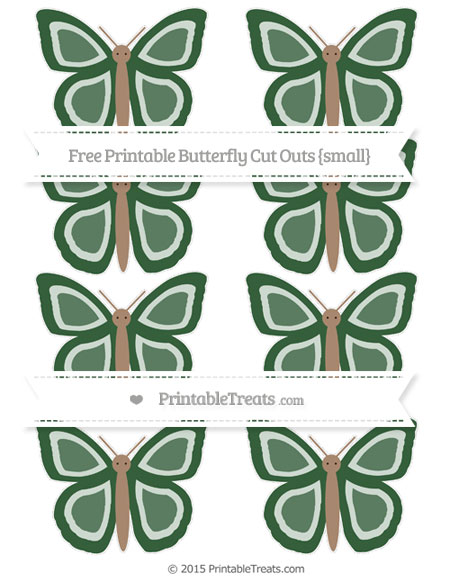 Free Hunter Green Small Butterfly Cut Outs