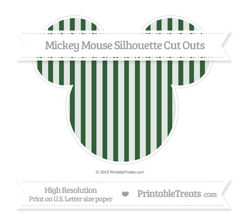 Free Hunter Green Striped Extra Large Mickey Mouse Silhouette Cut Outs