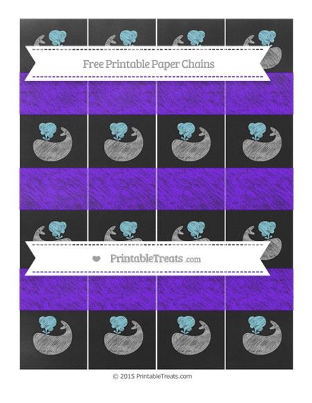 Free Indigo Chalk Style Whale Paper Chains