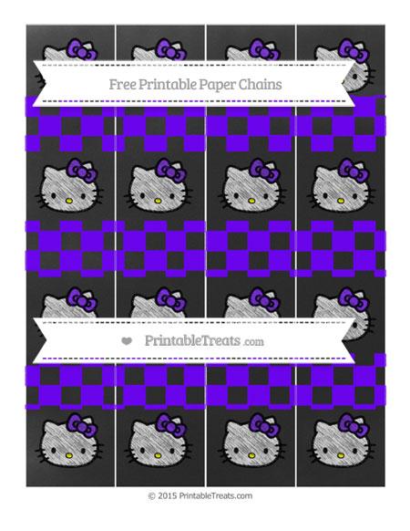 Free Indigo Checker Pattern Chalk Style Hello Kitty Paper Chains