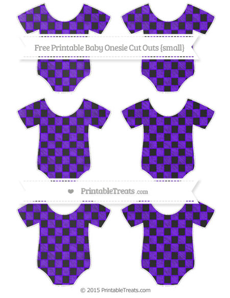 Free Indigo Checker Pattern Chalk Style Small Baby Onesie Cut Outs