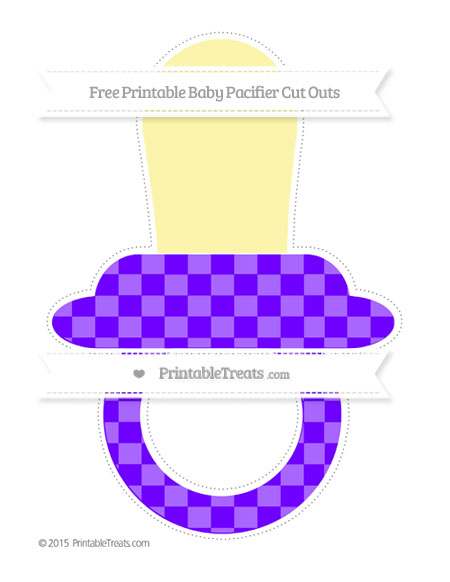 Free Indigo Checker Pattern Extra Large Baby Pacifier Cut Outs