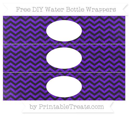 Free Indigo Chevron Chalk Style DIY Water Bottle Wrappers