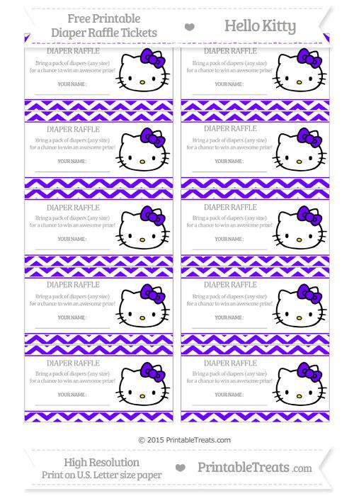 Free Indigo Chevron Hello Kitty Diaper Raffle Tickets
