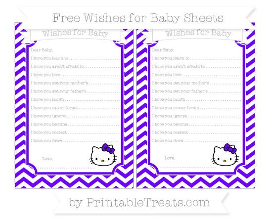 Free Indigo Chevron Hello Kitty Wishes for Baby Sheets