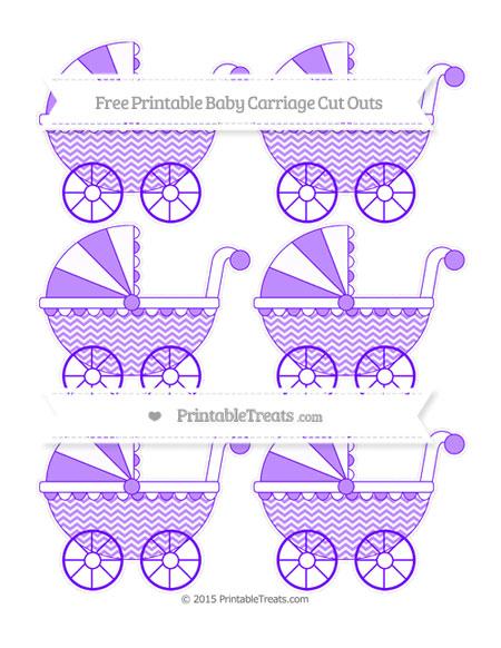 Free Indigo Chevron Small Baby Carriage Cut Outs