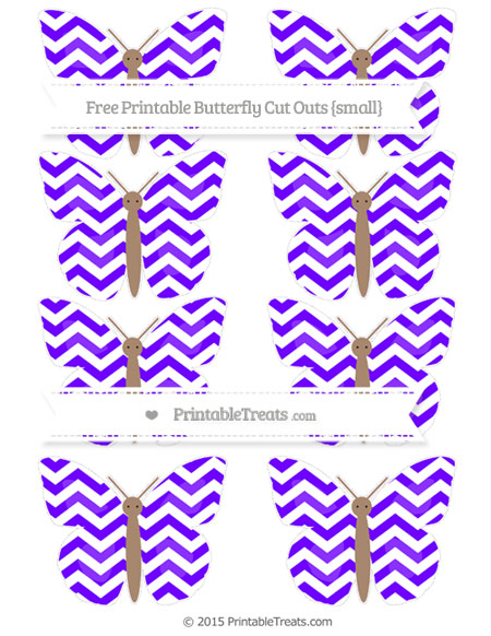 Free Indigo Chevron Small Butterfly Cut Outs