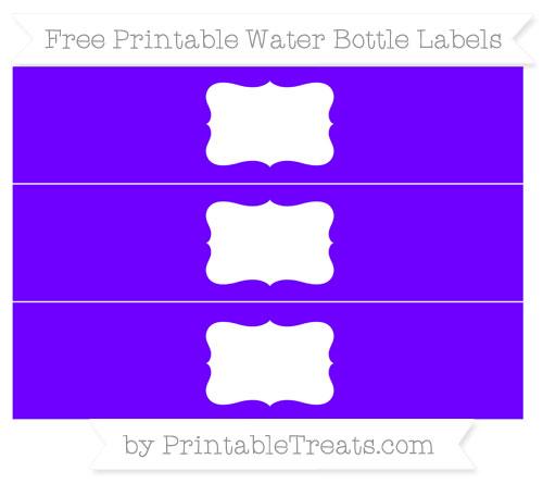 Free Indigo Water Bottle Labels