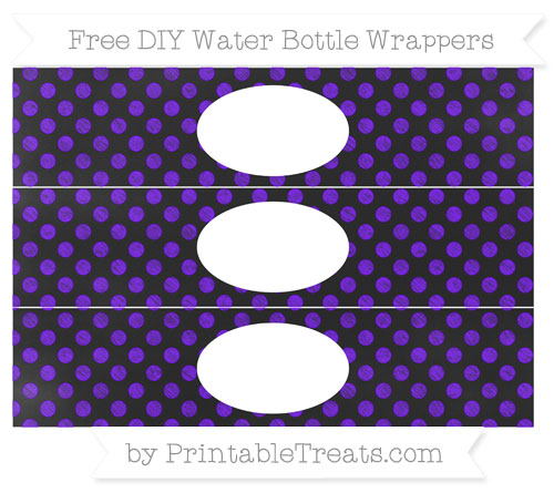 Free Indigo Dotted Pattern Chalk Style DIY Water Bottle Wrappers