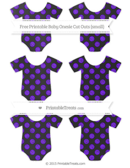 Free Indigo Dotted Pattern Chalk Style Small Baby Onesie Cut Outs