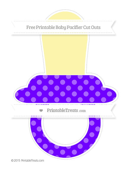 Free Indigo Dotted Pattern Extra Large Baby Pacifier Cut Outs