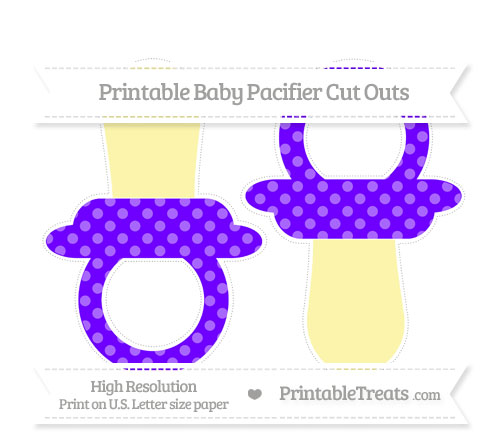Free Indigo Dotted Pattern Large Baby Pacifier Cut Outs