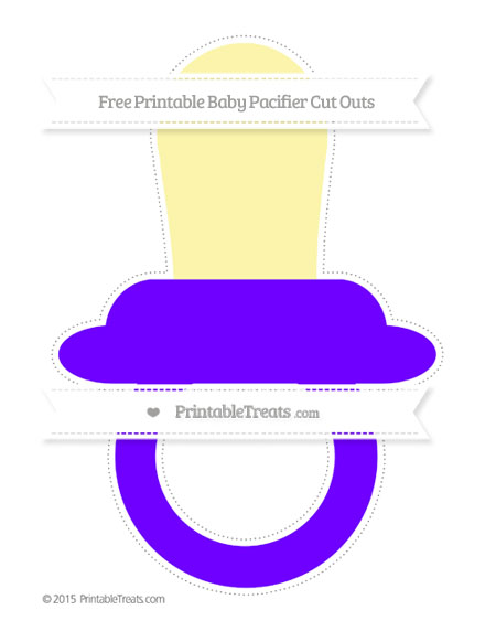 Free Indigo Extra Large Baby Pacifier Cut Outs