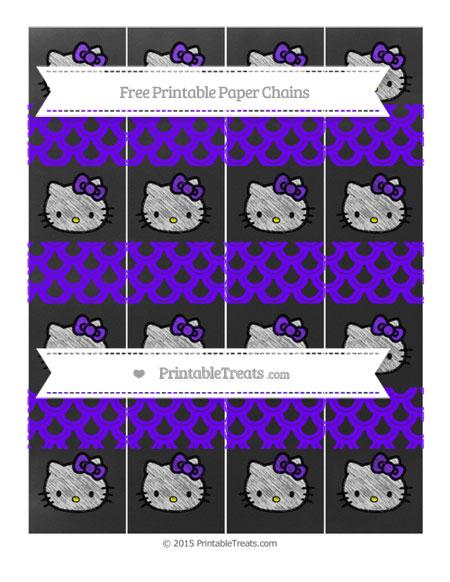 Free Indigo Fish Scale Pattern Chalk Style Hello Kitty Paper Chains