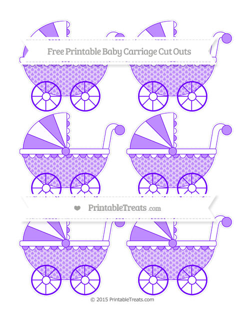 Free Indigo Fish Scale Pattern Small Baby Carriage Cut Outs