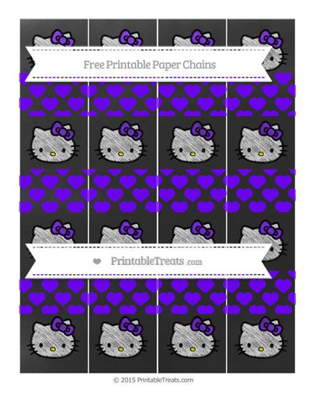Free Indigo Heart Pattern Chalk Style Hello Kitty Paper Chains