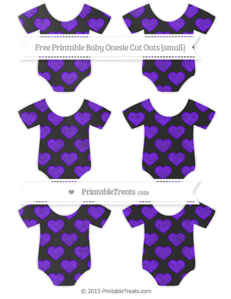 Free Indigo Heart Pattern Chalk Style Small Baby Onesie Cut Outs
