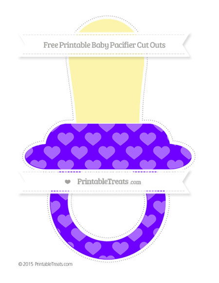 Free Indigo Heart Pattern Extra Large Baby Pacifier Cut Outs