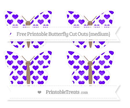 Free Indigo Heart Pattern Medium Butterfly Cut Outs