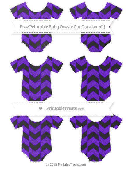 Free Indigo Herringbone Pattern Chalk Style Small Baby Onesie Cut Outs