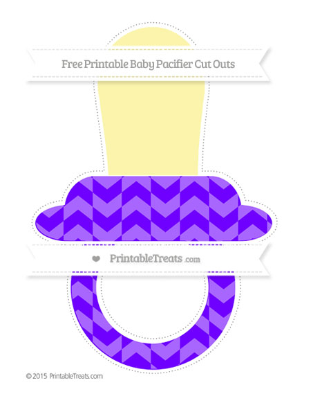Free Indigo Herringbone Pattern Extra Large Baby Pacifier Cut Outs