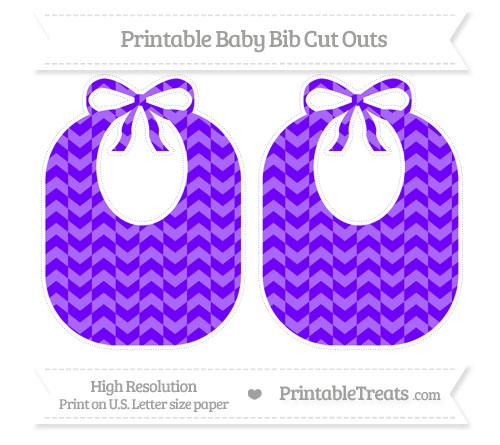 Free Indigo Herringbone Pattern Large Baby Bib Cut Outs